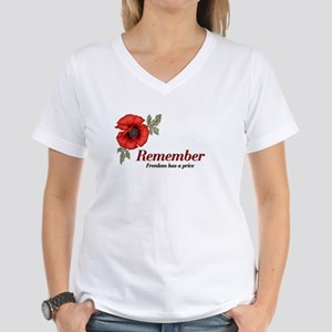 Remember Poppy Women's V-Neck T-Shirt